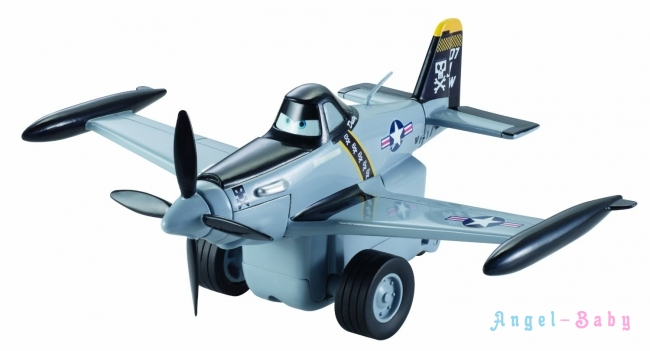 Инерционный самолет Disney Planes Pull and Fly Buddies Jolly Wrenches Dusty Crophopper Дисней Дасти (США) X9514