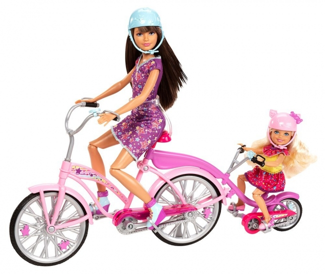 Куклы Barbie Sisters Bike For Two Playset Сестры Barbie на велосипеде (США) Х9057
