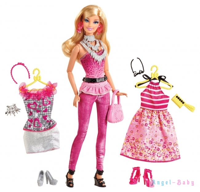 Кукла Barbie Fashionistas Fashion Fabulous Pink Модница Barbie с набором одежды 29 cм (США) Y7500