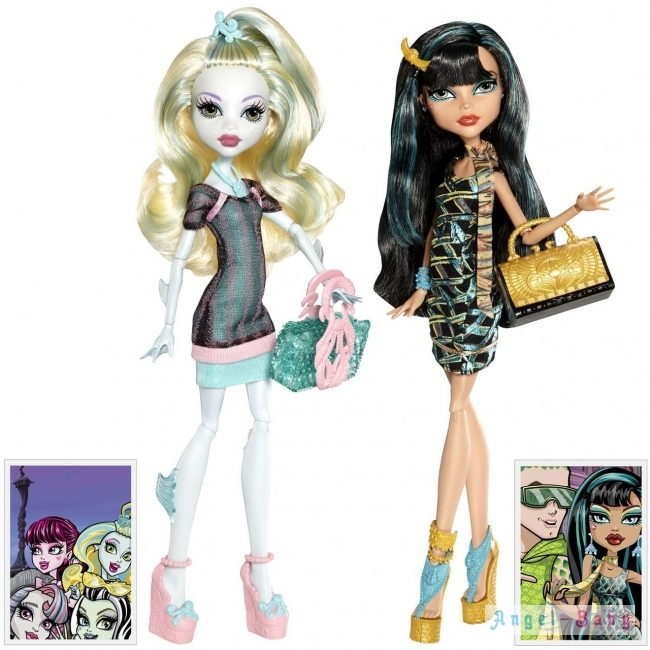 Куклы Monster High Scaris Exclusive Lagoona Blue & Cleo De Nile Скарис Лагуна Блю и Клео Де Нил Exclusive 26 см (Y7296) США