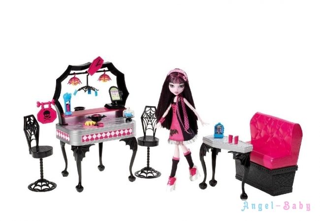 Набор кукла Monster High Die-Ner and Draculaura Playset and Doll кукла Дракулаура и кафе (США) Y7719