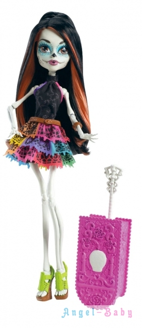 Кукла Monster High Travel Scaris Skelita Calaveras Путешествие в Скарис Скелита Калаверас 26 см (США) Y0377
