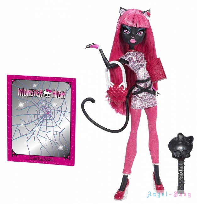 Кукла Monster High New Scaremester Catty Noir Новый Скарместр Кэтти Нуар 26 см (США) BJM43