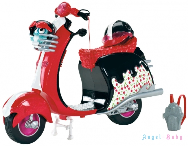 Набор Monster High Ghoulia Yelps Scooter Vehicle Скутер для Гулии Йелпс (X3659) США