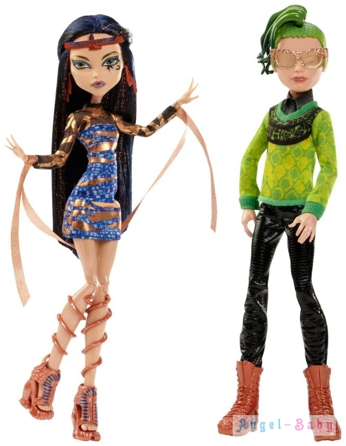 Набор Кукол Monster High Boo York, Boo York Comet Crossed Couple Cleo de Nile and Deuce Gorgon Бу Йорк Клео Де Нил и Дьюс Горгон 26 см (США) CHW60