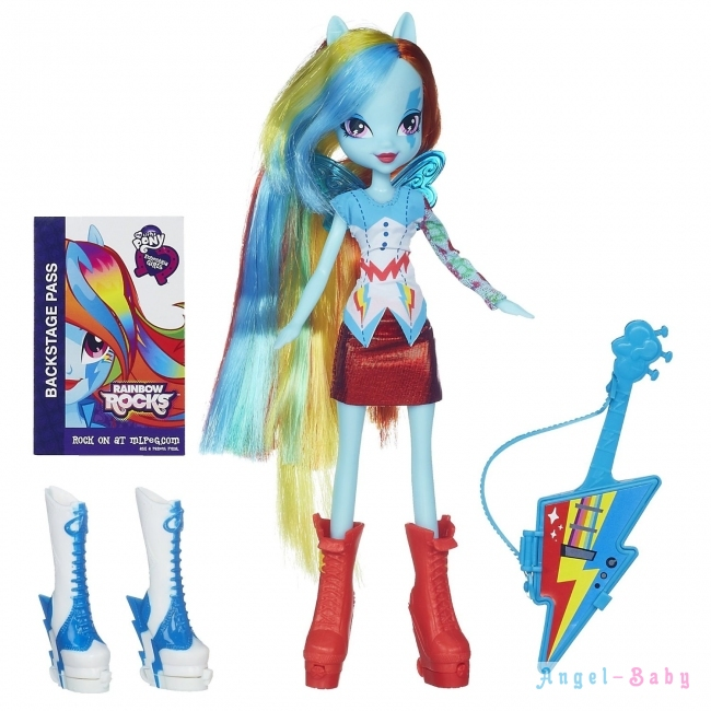 Кукла My Little Pony Equestria Girls Rainbow Dash with Guitar Радуга с гитарой 22,5 см (США) A7250/A3995