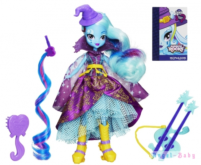 Кукла My Little Pony Equestria Girls Trixie Lulamoon Трикси Луламун с гитарой 22,5 см (США) A6684
