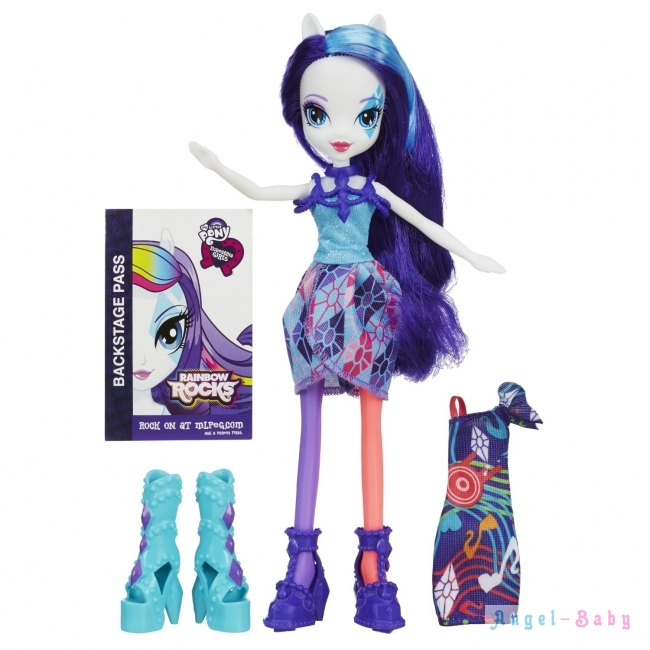 Кукла My Little Pony Equestria Girls Rainbow Rocks Rarity with Fashions Рарити 22,5 см (США) A9539/A8841