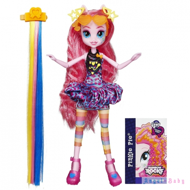 Кукла My Little Pony Equestria Girls Rainbow Rocks Pinkie Pie Rockin Hairstyle Пинки Пай Рок Прическа 22,5 см (США) B1997/B1036