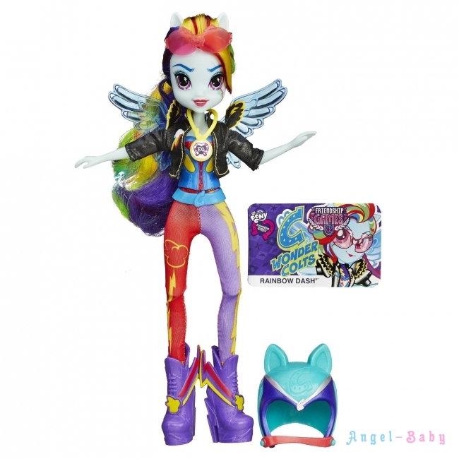 Кукла My Little Pony Equestria Girls Rainbow Dash Sporty Style Motocross Радуга Мотокросс 22,5 см (США) B3776/B1771
