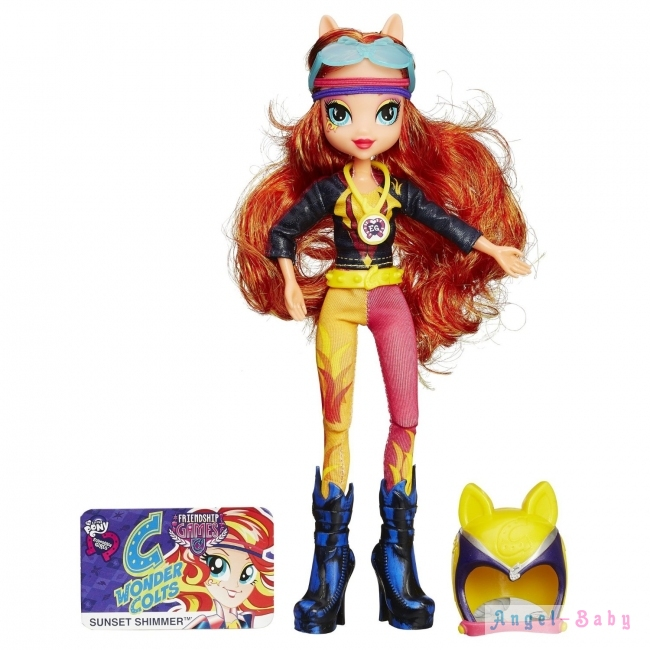 Кукла My Little Pony Equestria Girls Sunset Shimmer Sporty Style Motocross Сансет Шиммер Мотокросс 22,5 см (США) B3777/B1771