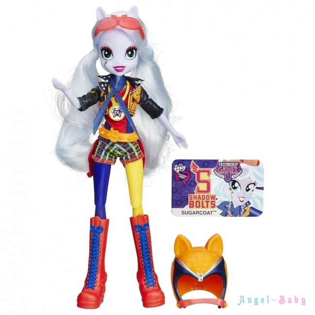 Кукла My Little Pony Equestria Girls Sugarcoat Sporty Style Motocross Шугаркоут Мотокросс 22,5 см (США) B3780/B1772