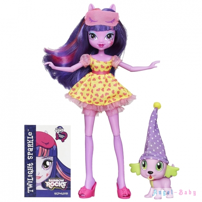 Кукла My Little Pony Equestria Girls Twilight and Spike Твайлайт Спаркл и Спайк 22,5 см (США) B1072/B1070