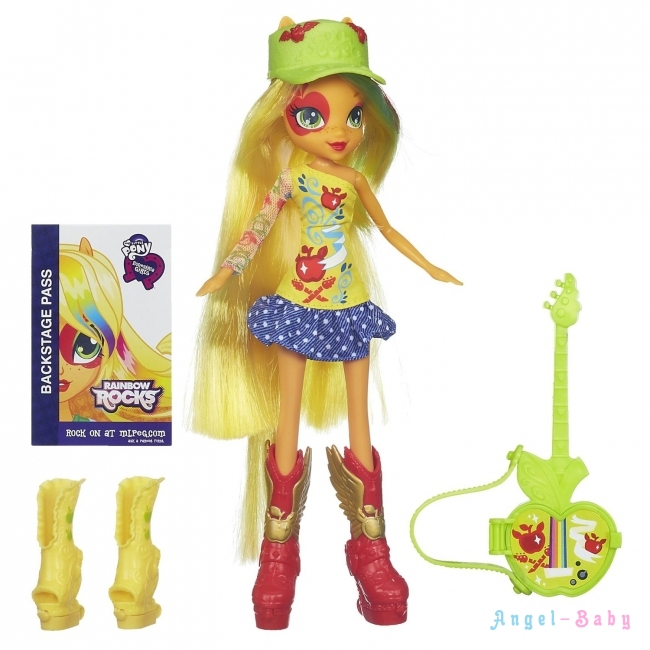 Кукла My Little Pony Equestria Girls Applejack with Guitar Эплджек с гитарой 22,5 см (США) A7251/A3995
