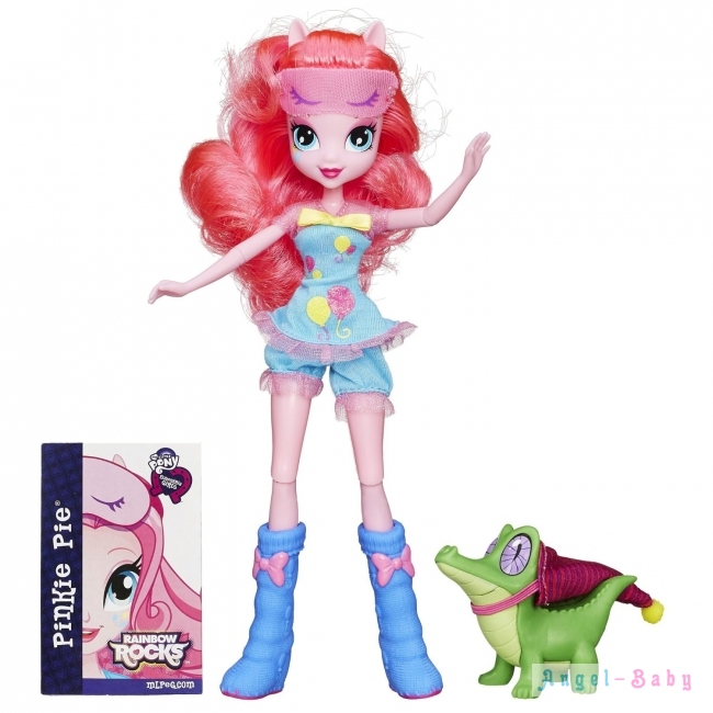 Кукла My Little Pony Equestria Girls Rainbow Rocks Pinkie Pie and Gummy Snap Пинки Пай и Гамми Снап 22,5 см (США) B1071/B1070