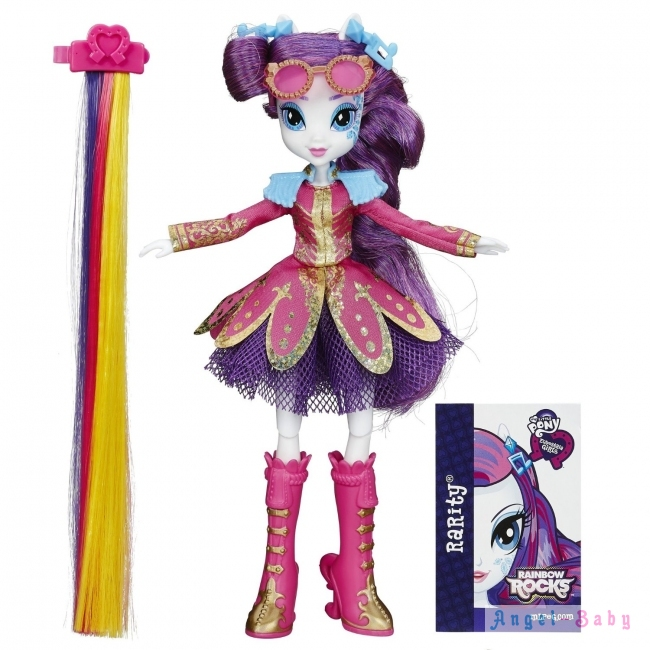 Кукла My Little Pony Equestria Girls Rainbow Rocks Rarity Rockin Hairstyle Рарити Рок Прическа 22,5 см (США) B1998/B1036